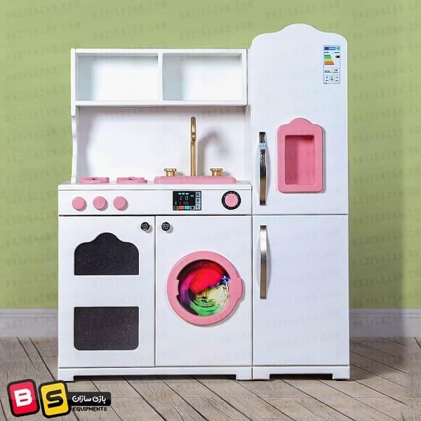 آشپزخانه کودک یک تکه سفید پنج کاره
