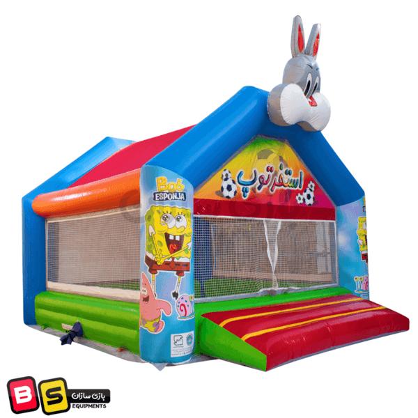 نمای جانبی استخر توپ بادی خرگوش