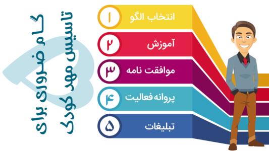 5 گام ضروری در تاسیس مهد کودک