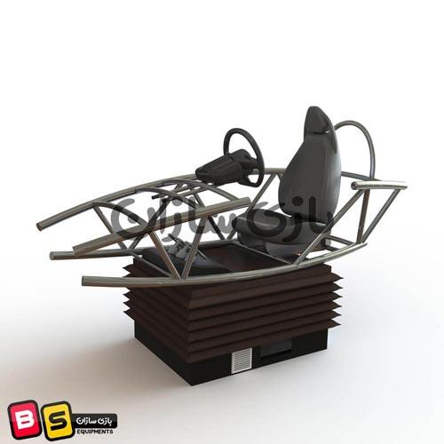 شبیه ساز ماشین مسابقه ای فلزی