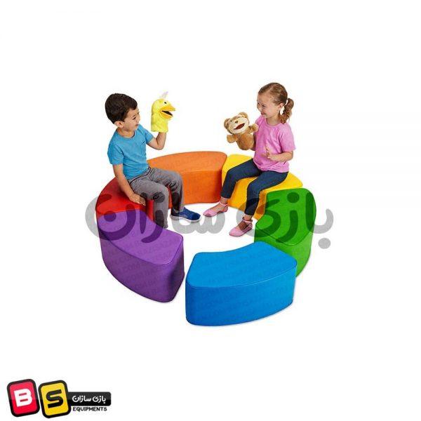 میز رنگارنگ فومی کودک