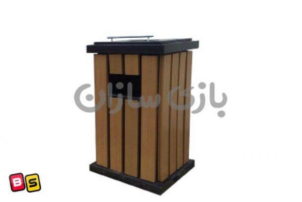 سطل آشغال پارکی چوبی