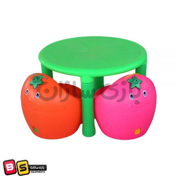 میز چیکو سبز و صندلی چیکو