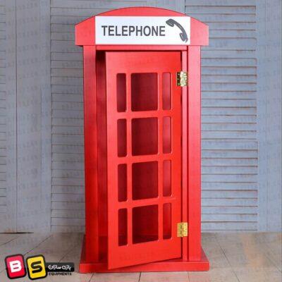 کیوسک تلفن چوبی شهر مشاغل کودک