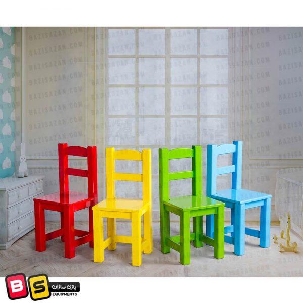 میز و صندلی چوبی کودک ساده