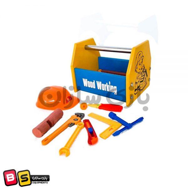 جعبه ابزار چوبی اسباب بازی
