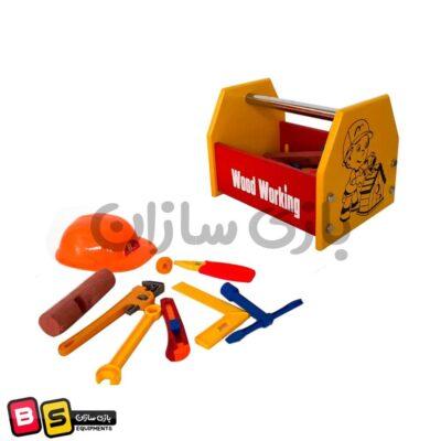 جعبه ابزار چوبی کودک