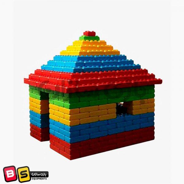 بلوک خانه سازی بزرگ خانه اسباب بازی