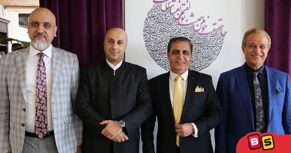 از سمت راست: مهندس کیهانی، بنیانگذار برند ایران فریمکو، مهندس فتح اللهی، موسس برند سبزان، دکتر یادگاری، دکتر حسین رضا سلطانی،مدیرعامل بازی سازان