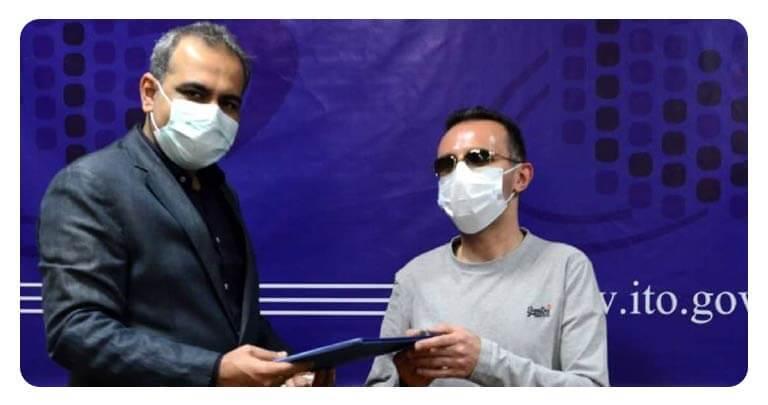 اهدا حکم مشاوره وزارت ارتباطات به امیرحسین سلیمانی