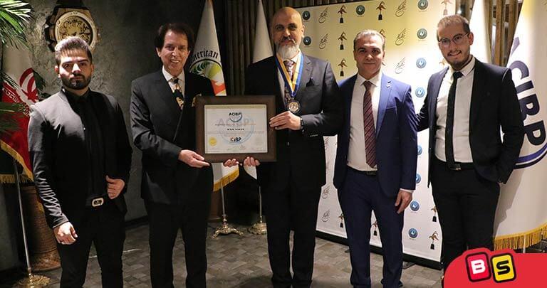 دریافت لوح طلایی، مدال و گواهینامه از دانشگاه امریکن لیبرتی و موسسه جهانی اعتبار سنجی ACIBP