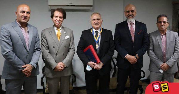 جلسه مدیرعامل بازی سازان با پروفسور سلطانی و مهندس کلانی بازیکن طلایی اسبق پرسپولیس