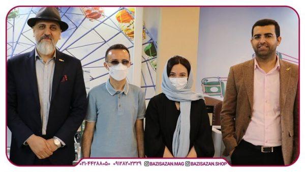 حضور گلاره عباسی مدیریت سوینا در بازی سازان