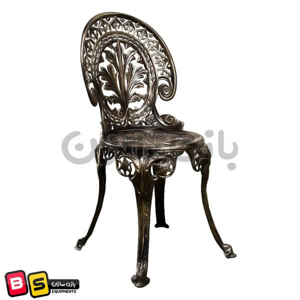 صندلی آلومینیومی فضای باز طرح طاووسی سیاه
