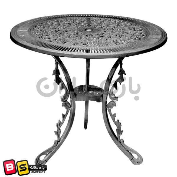 میز صندلی آلومینیومی فضای باز طرح طاووسی