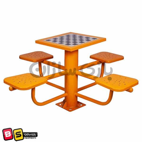 میز شطرنج پارکی فلزی b11