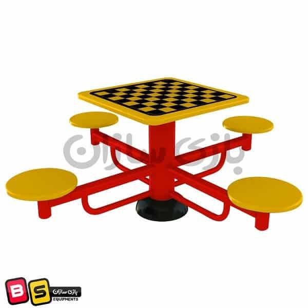 میز شطرنج پارکی فلزی