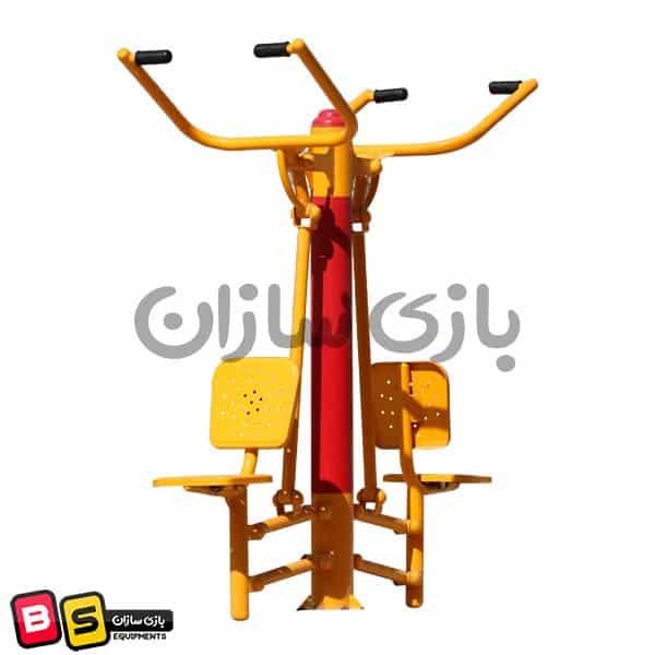 دستگاه ورزشی پارکی پرس سرشانه b16