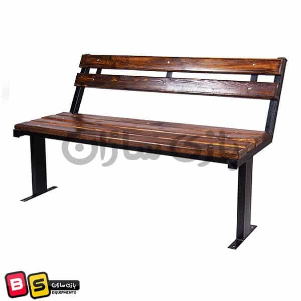 نیمکت چوب و فلزی پارکی مدل 001